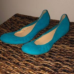 JCrew blue suede shoes